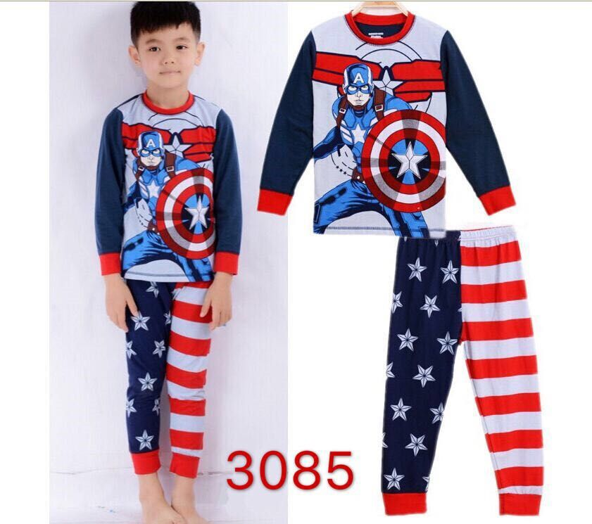 CY 146927  CHILDREN KID PYJAMAS SLEEPWEAR DISNE CAPTAIN AMERICA AVENGERS B