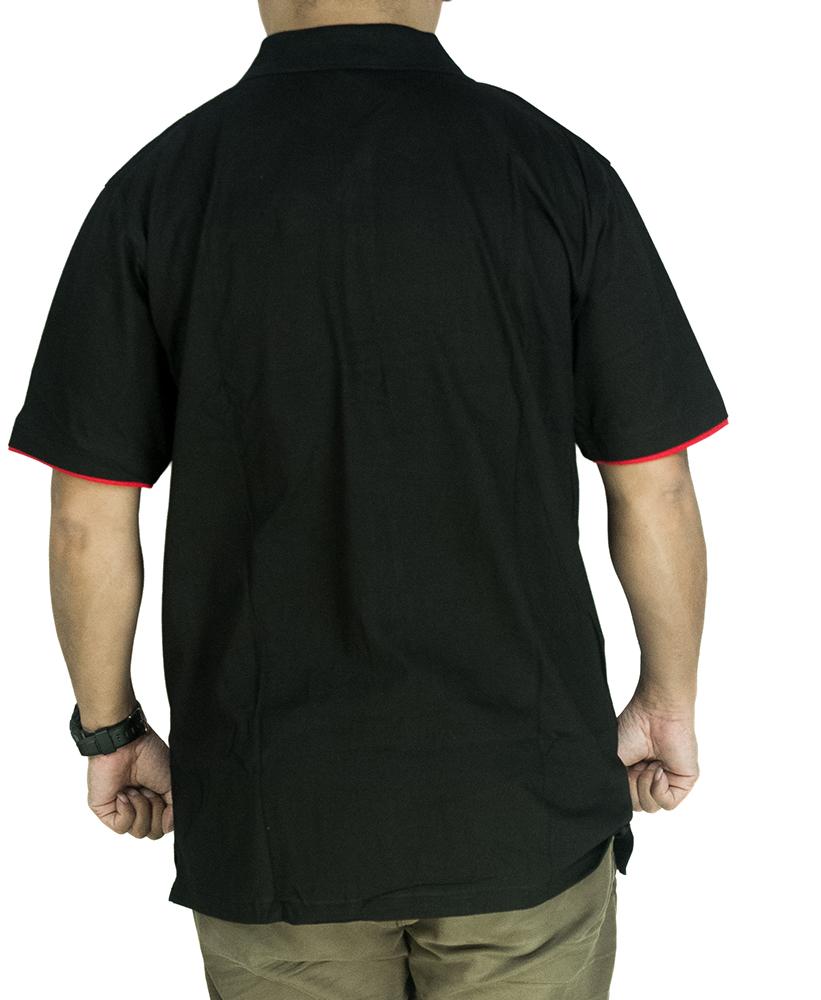 CY 342B [ BLACK / GREY ] MAN CASUAL POLO COLAR SHIRT BIG SIZE PLUS 7XL