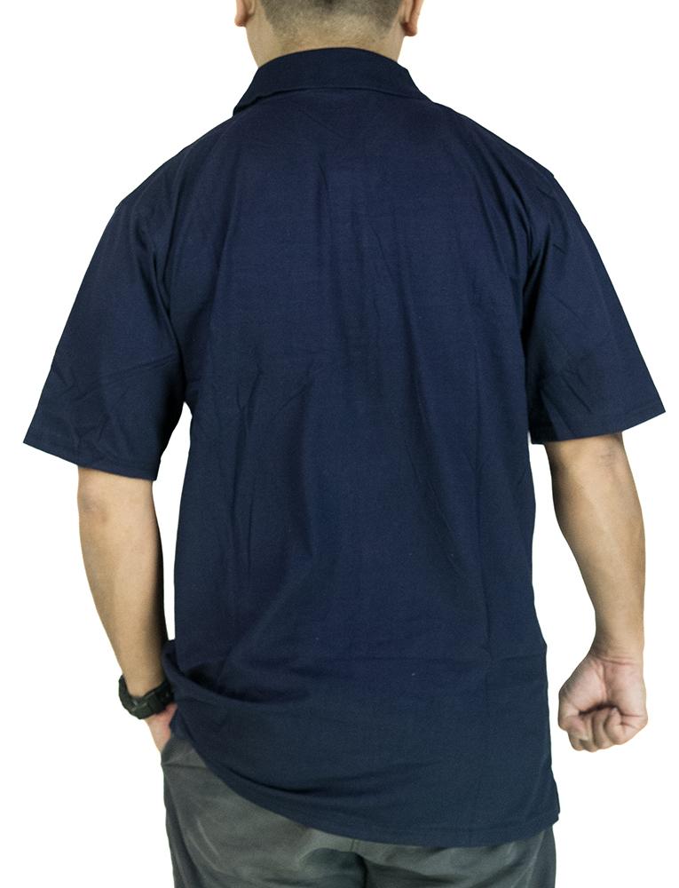 CY 22-7794 [ BLUE /GREY  ] MAN CASUAL POLO COLAR SHIRT BIG SIZE PLUS 7XL