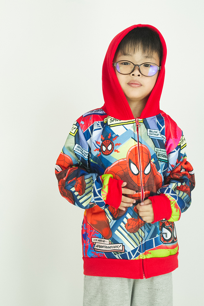 CY 4201 TRAVEL JACKET SWEATER HOODIES DISNEY KID CHILDREN BABY AVENGERS SPIDERMAN