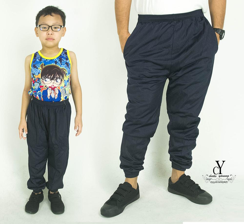CY 355 [ DARK BLUE ] TRACK BOTTOM SPORT PANT SWEAT PANT SCHOOL GYM  YOGA KID ADULT