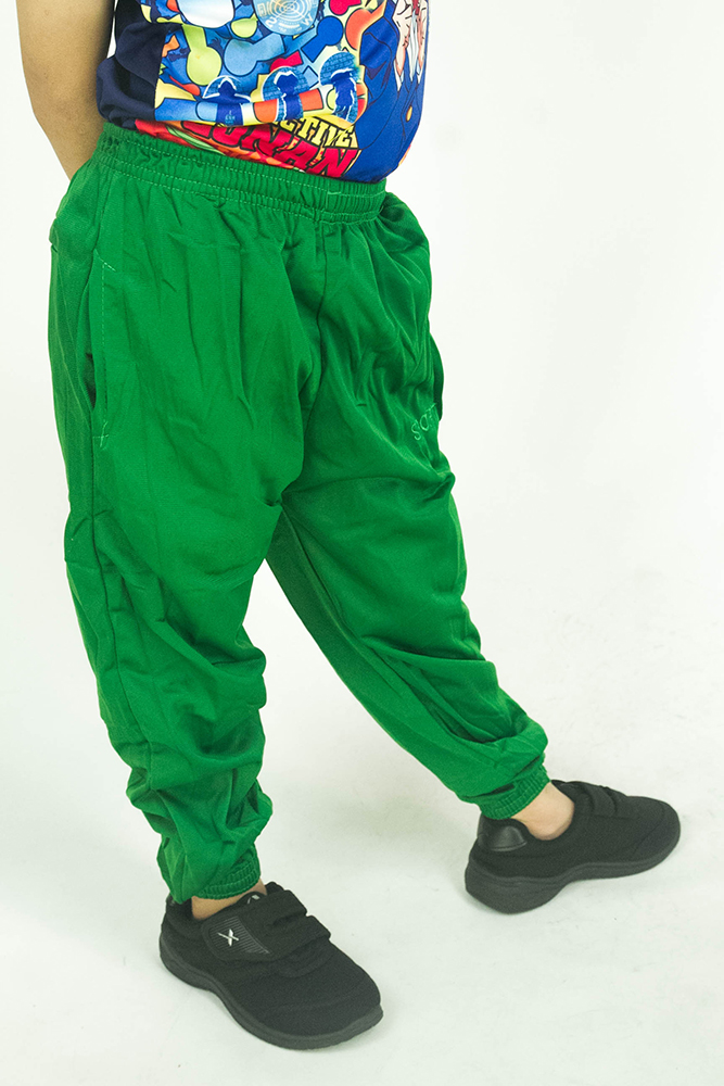 CY 355 [ GREEN ] TRACK BOTTOM SPORT PANT SWEAT PANT SCHOOL GYM  YOGA KID ADULT