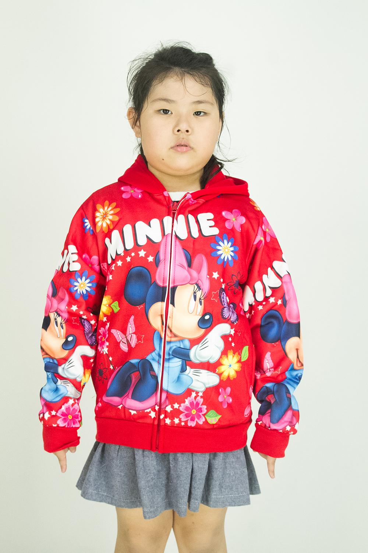 CY 33638 [ RED / PURPLE ] JACKET SWEATER DISNEY KID CHILDREN MICKEY NINNEY