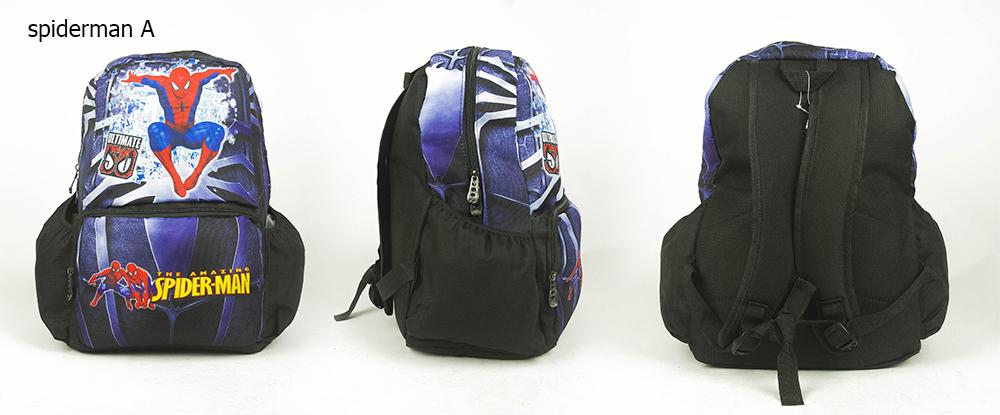 CY 7801 SCHOOL BAG SEKOLAH DISNEY MARVEL IRONMAN BEN10 SPIDERMAN CARS