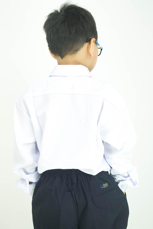CY 346SR [ WHITE ] KEMEJA KOSHIBO SEKOLAH RENDAH PRIMARY SCHOOL LENGAN PANJANG