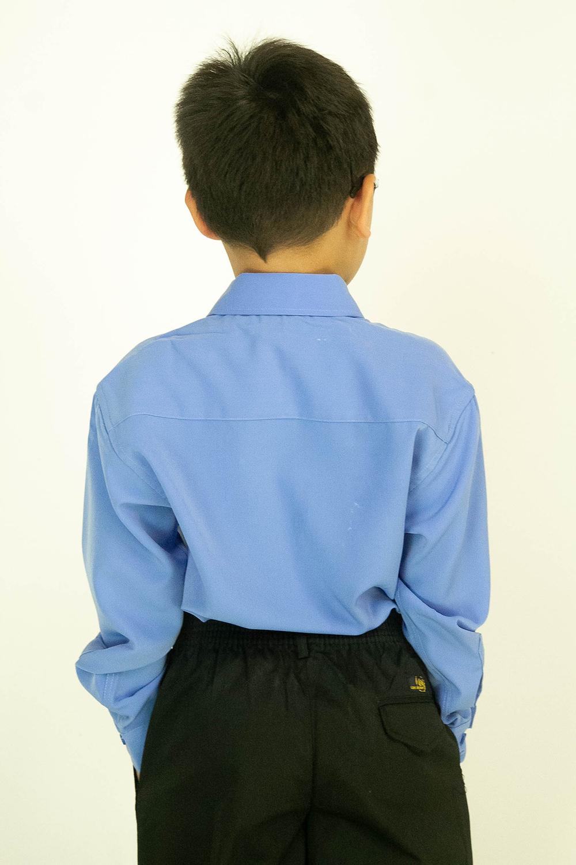 CY 346SR [ BLUE ] KEMEJA KOSHIBO SEKOLAH RENDAH PRIMARY SCHOOL LENGAN PANJANG
