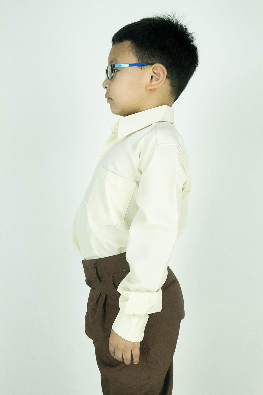CY 346SR [ PEACH ] KEMEJA KOSHIBO SEKOLAH PRIMARY SCHOOL LENGAN PANJANG