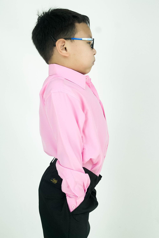 CY 346SR [MERAH JAMBU / PINK] KEMEJA KOSHIBO SEKOLAH SCHOOL LENGAN PANJANG