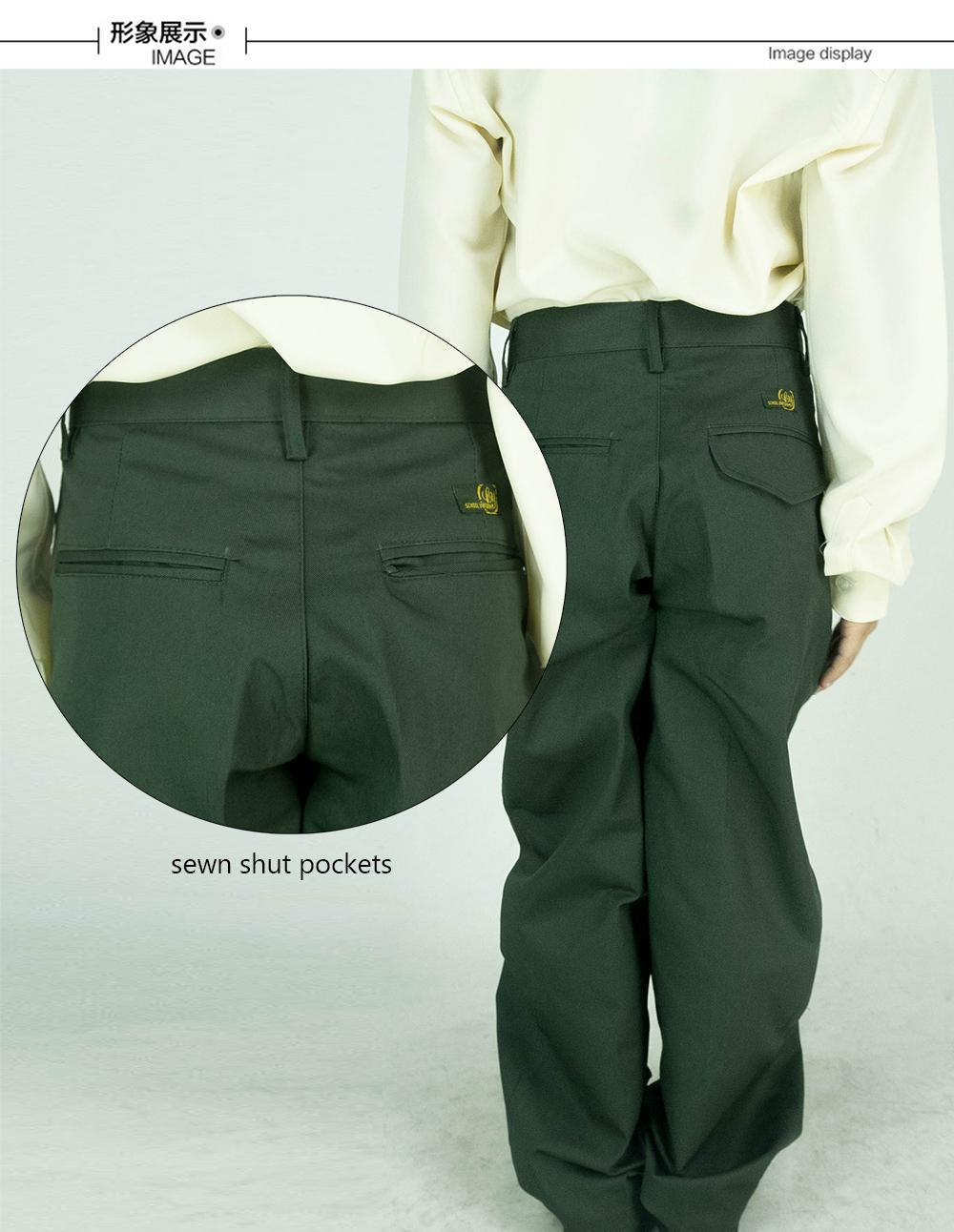 CY 8054G SELUAR PANJANG HIJAU SEKOLAH UNIFORM  / SCHOOL LONG PANTS GREEN / 中学青裤