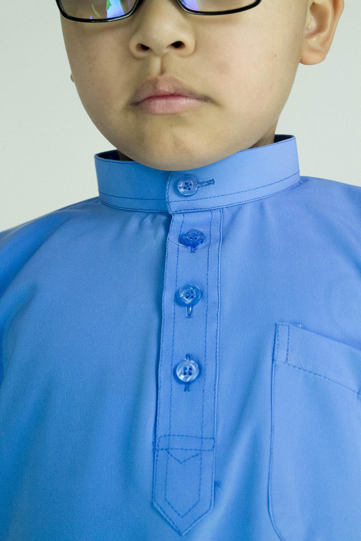 CY 346BM PASANG BAJU MELAYU SEKOLAH MUSLIM AGAMA TAHFIZ KOSHIBO BIRU / BLUE