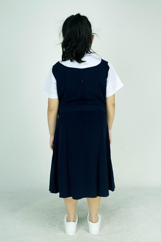 CY 346GR GAUN PINAFORE SEKOLAH RENDAH SJKC SJKT / SCHOOL PINAFORE DRESS 小学蓝色连衣裙
