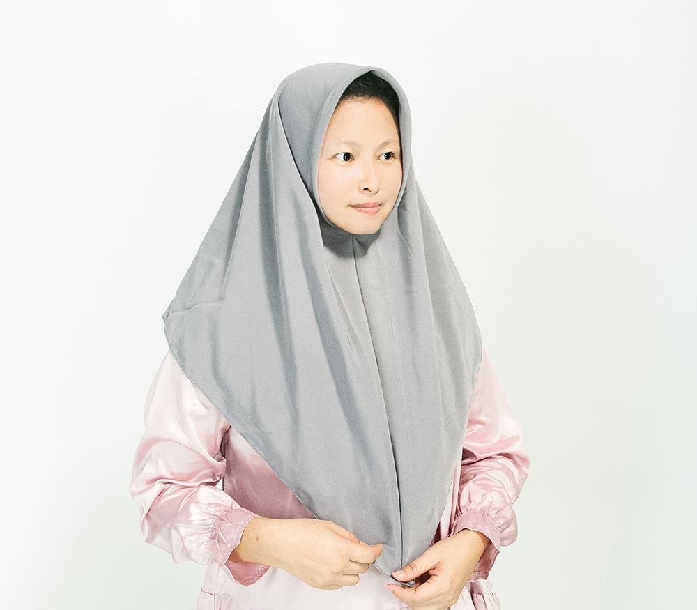 CY  122017 ( GREY )  PAKAIAN TUDUNG HIJAB SEKOLAH KOSHIBO SCHOOL KELABU